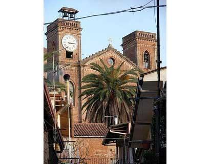La chiesa di San Francesco, panorama di laureana di borrello